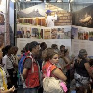 The Angolan exhibition attracted many curious visitor, many of them getting to know about the country for the first time.