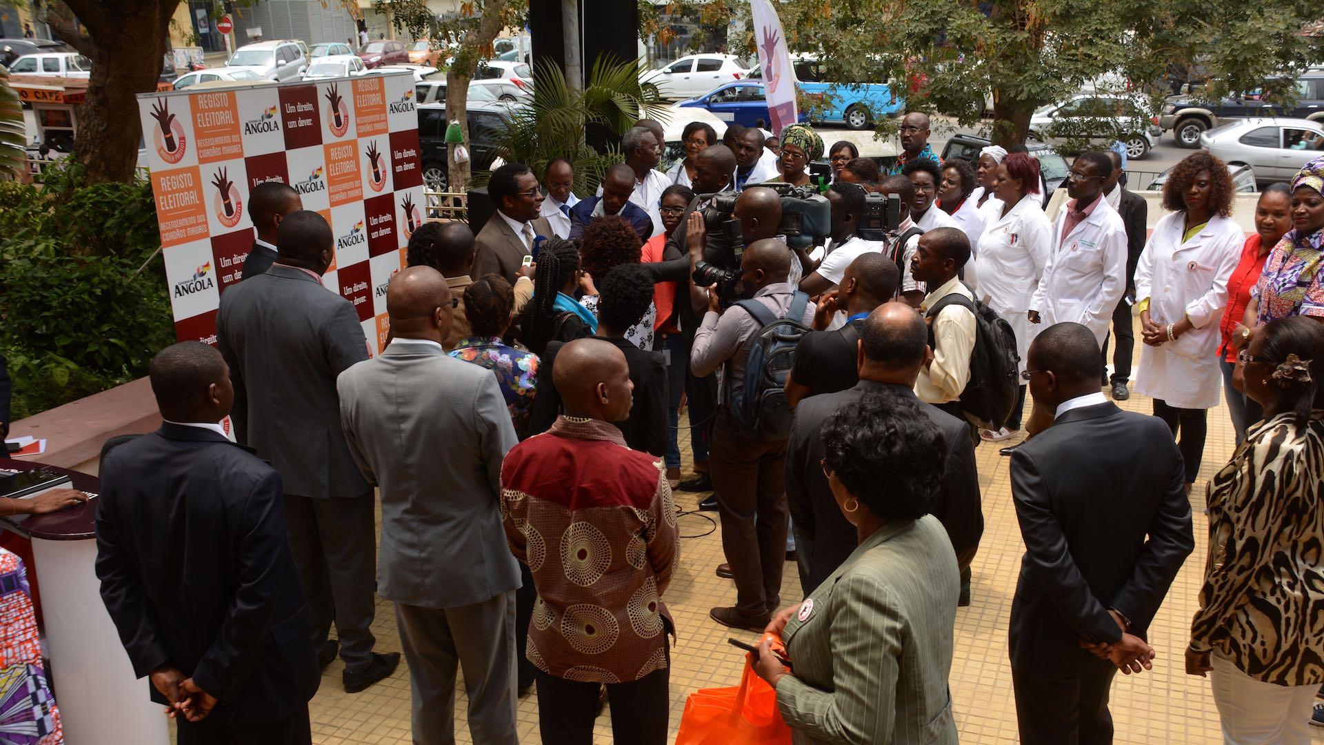 Actividade da campanha na Direcção provincial da Saúde