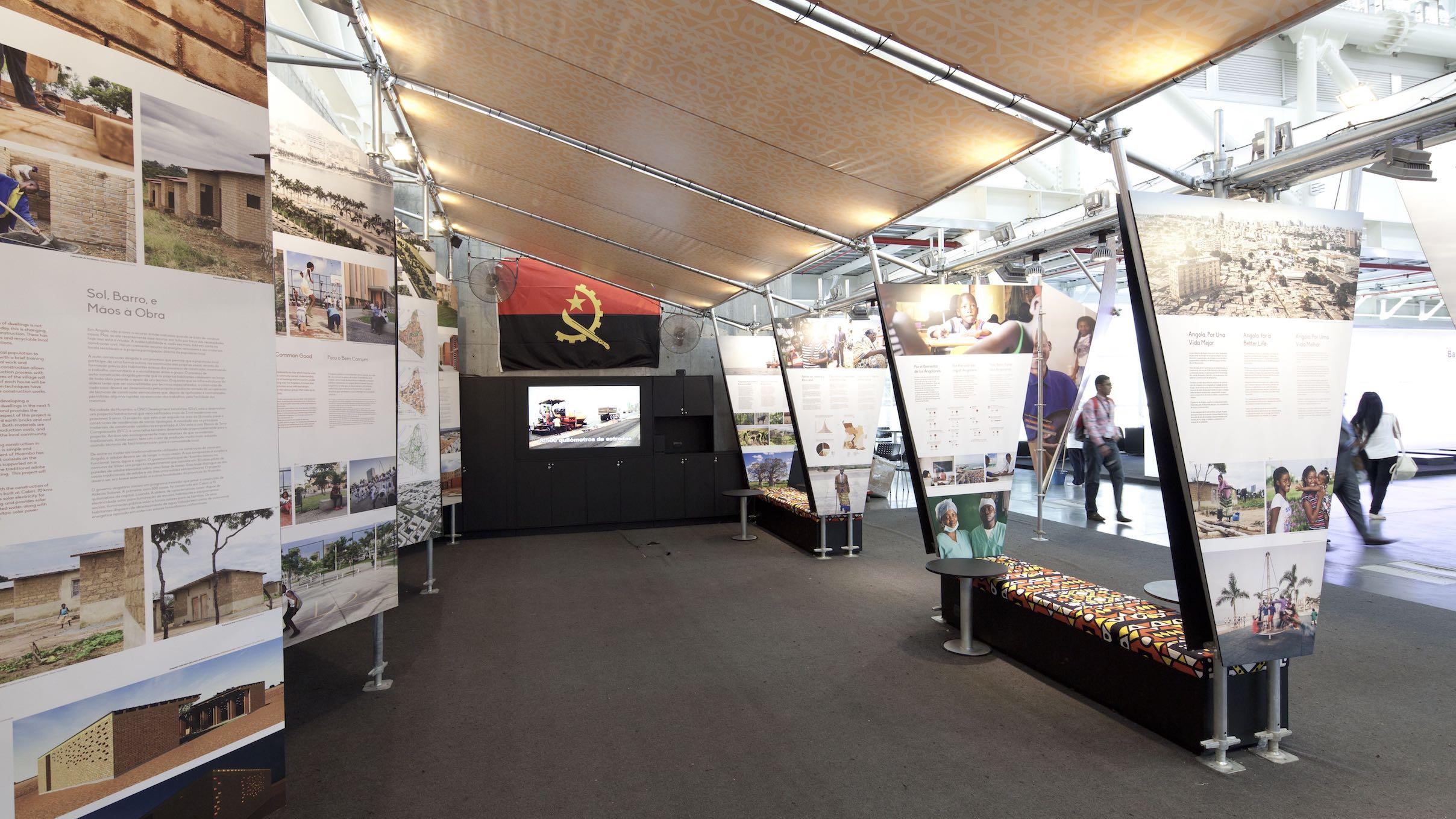 Detalhe do stand angolano no Forum Urbano Mundial 2014, foto de Sergio Gomes.